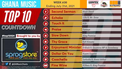 2021 Week 30: Ghana Music Top 10 Countdown