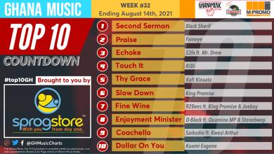 2021 Week 32: Ghana Music Top 10 Countdown