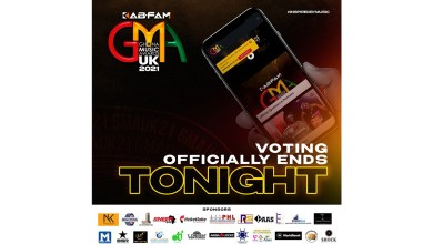 2021 KABFam Ghana Music Awards (GMA-UK) officially ends voting tonight!