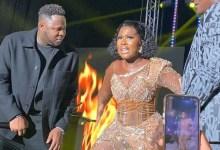 Medikal shutsdown GMA-UK with Fella Makafui after she snatched the mic to rap!