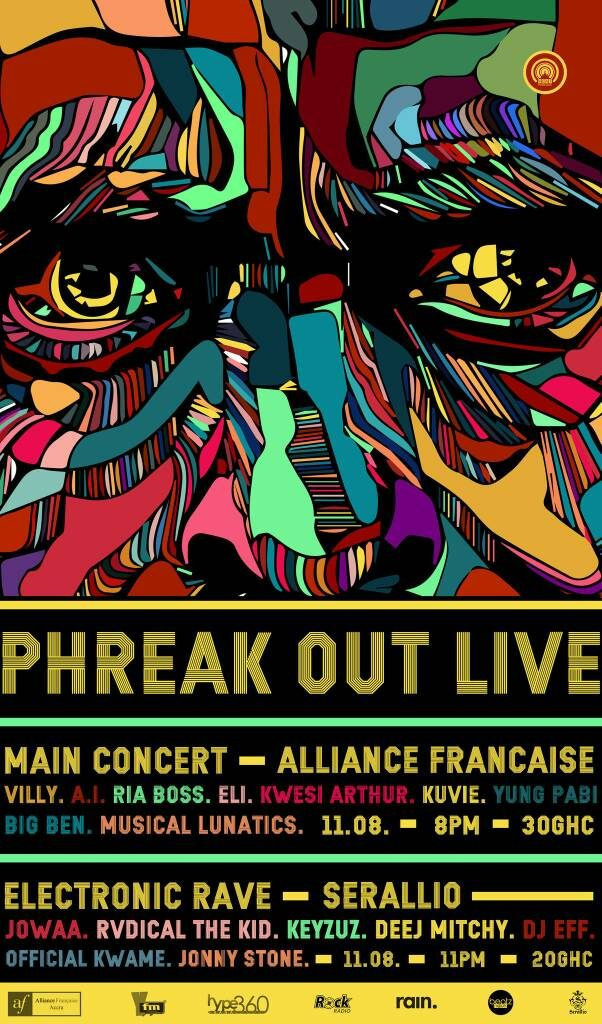 Phreak Out Live 2017 Poster