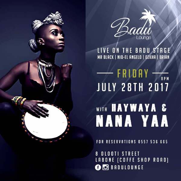 NanaYaa Live Performance at BADU Lounge – 28th July