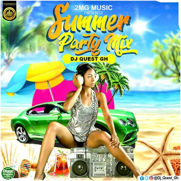 "DJ Quest Features Kwesi Arthur, Kuami Eugene, Shatta Wale On His ""Summer Party Mix"""