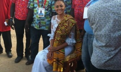 Menaye Donkor Muntari on her stool after the ceremony