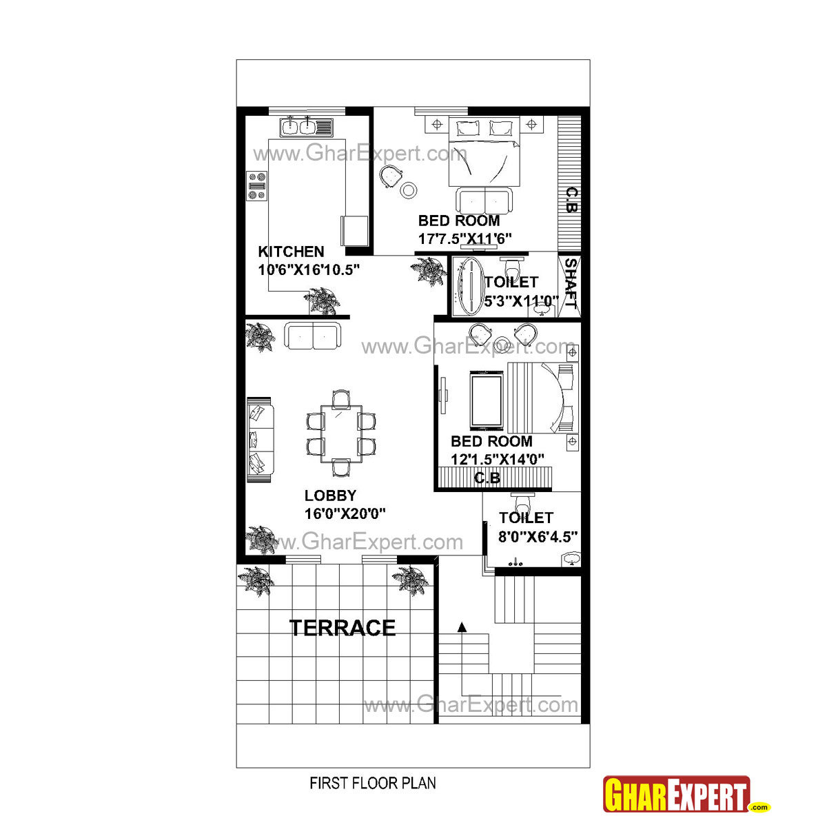House Plan For 30 Feet By 60 Feet Plot Plot Size 200