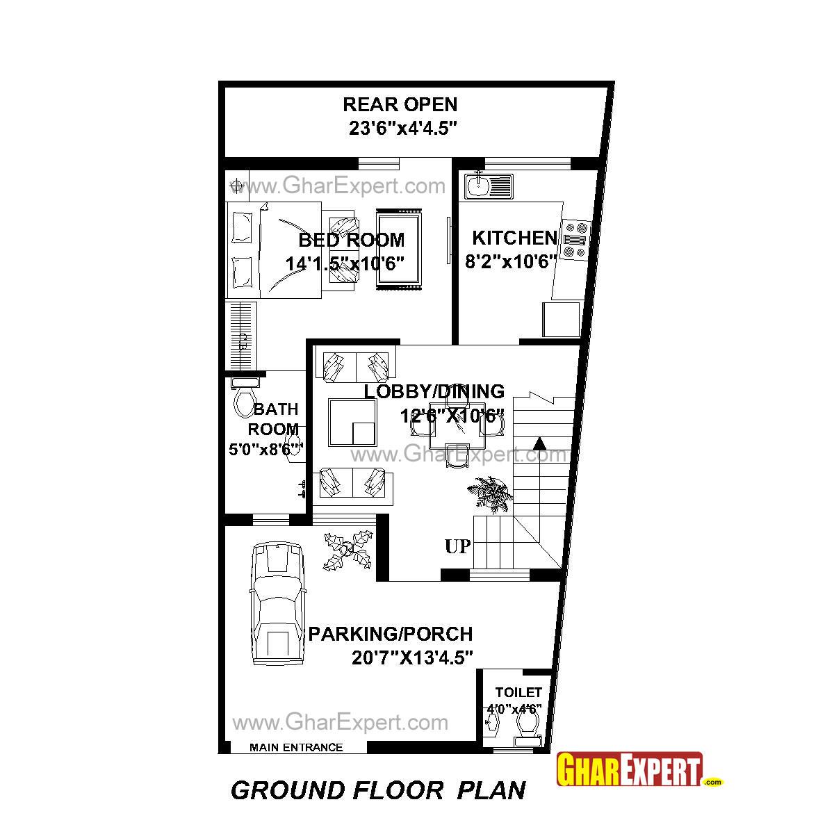 House Plan For 22 Feet By 42 Feet Plot Plot Size 103