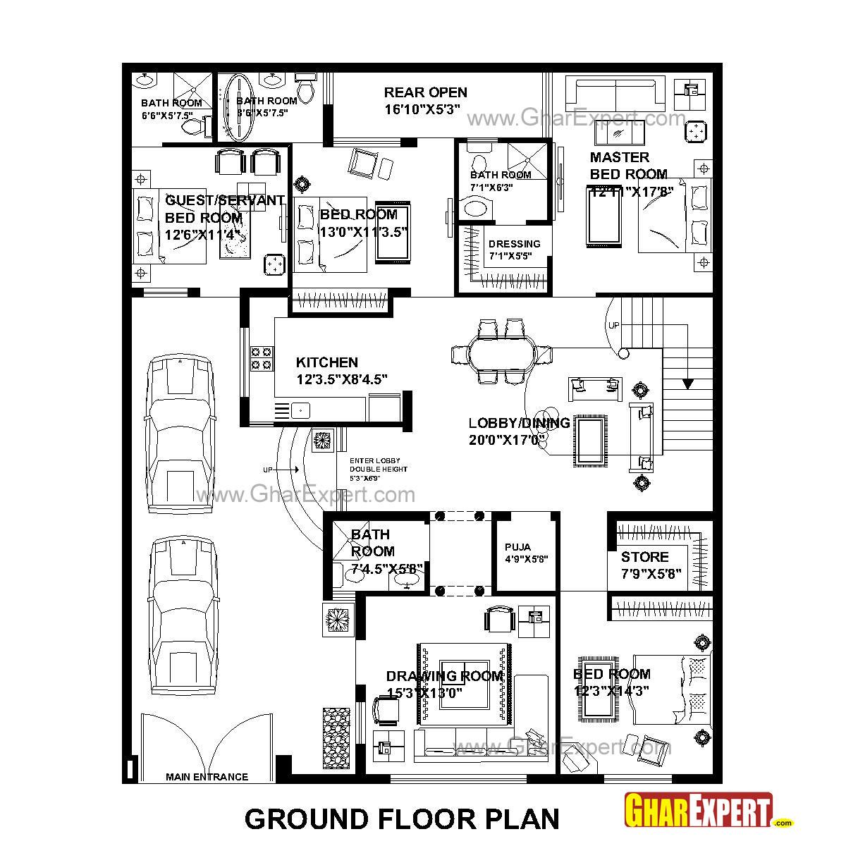 House Plan For 48 Feet By 58 Feet Plot Plot Size 309