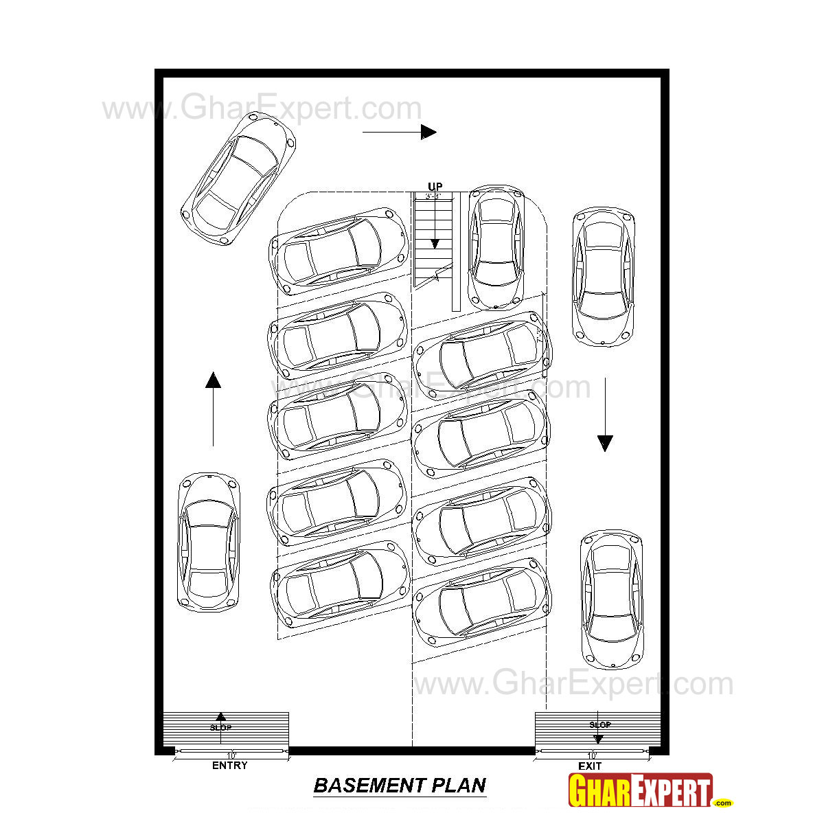 Apartment Plan For 45 Feet By 60 Feet Plot Plot Size 300