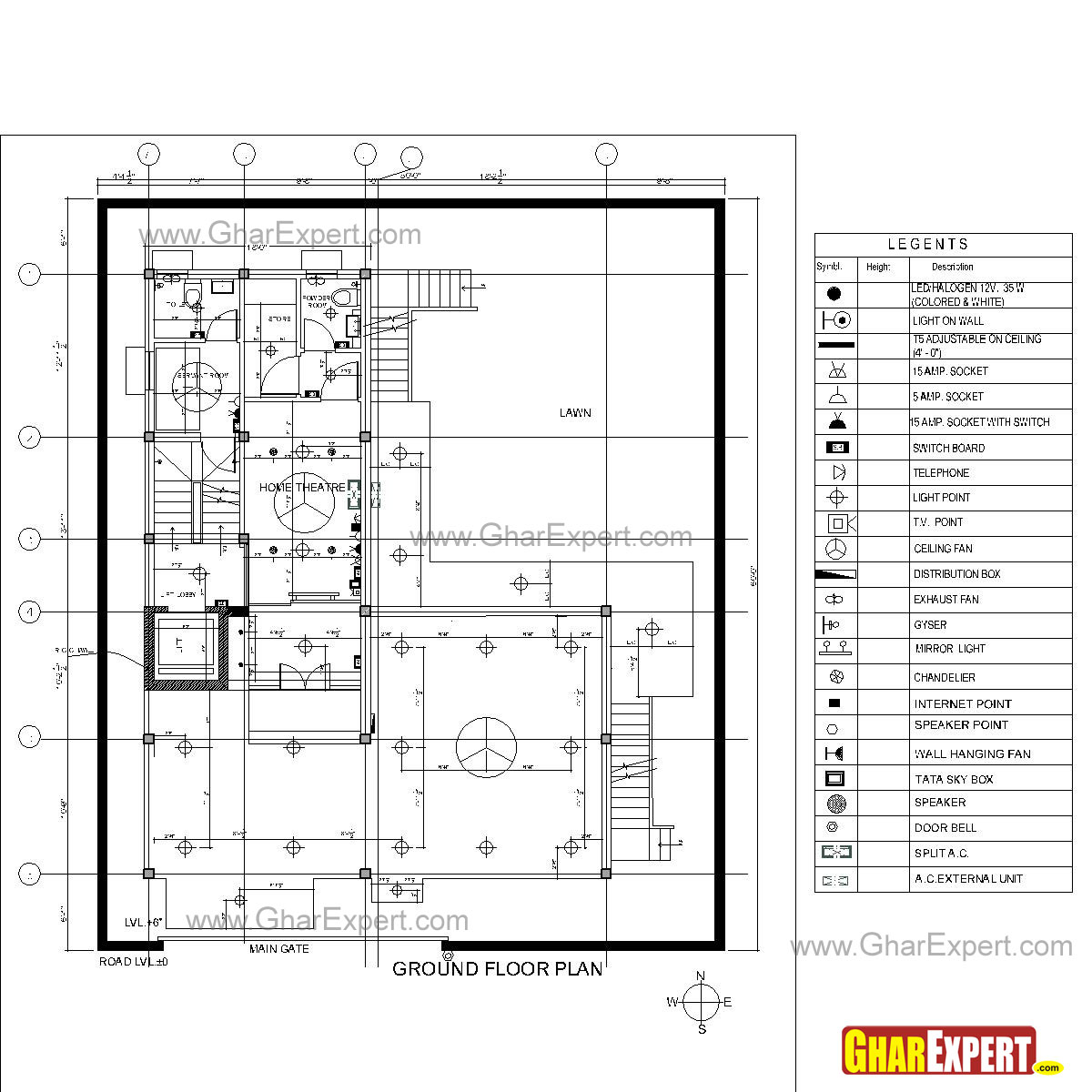 House Plan With Electrical Layout - Colakork.net