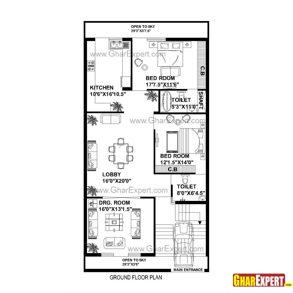 Gc Plan House Plan For 30 Feet By 60 Feet Plot Plot