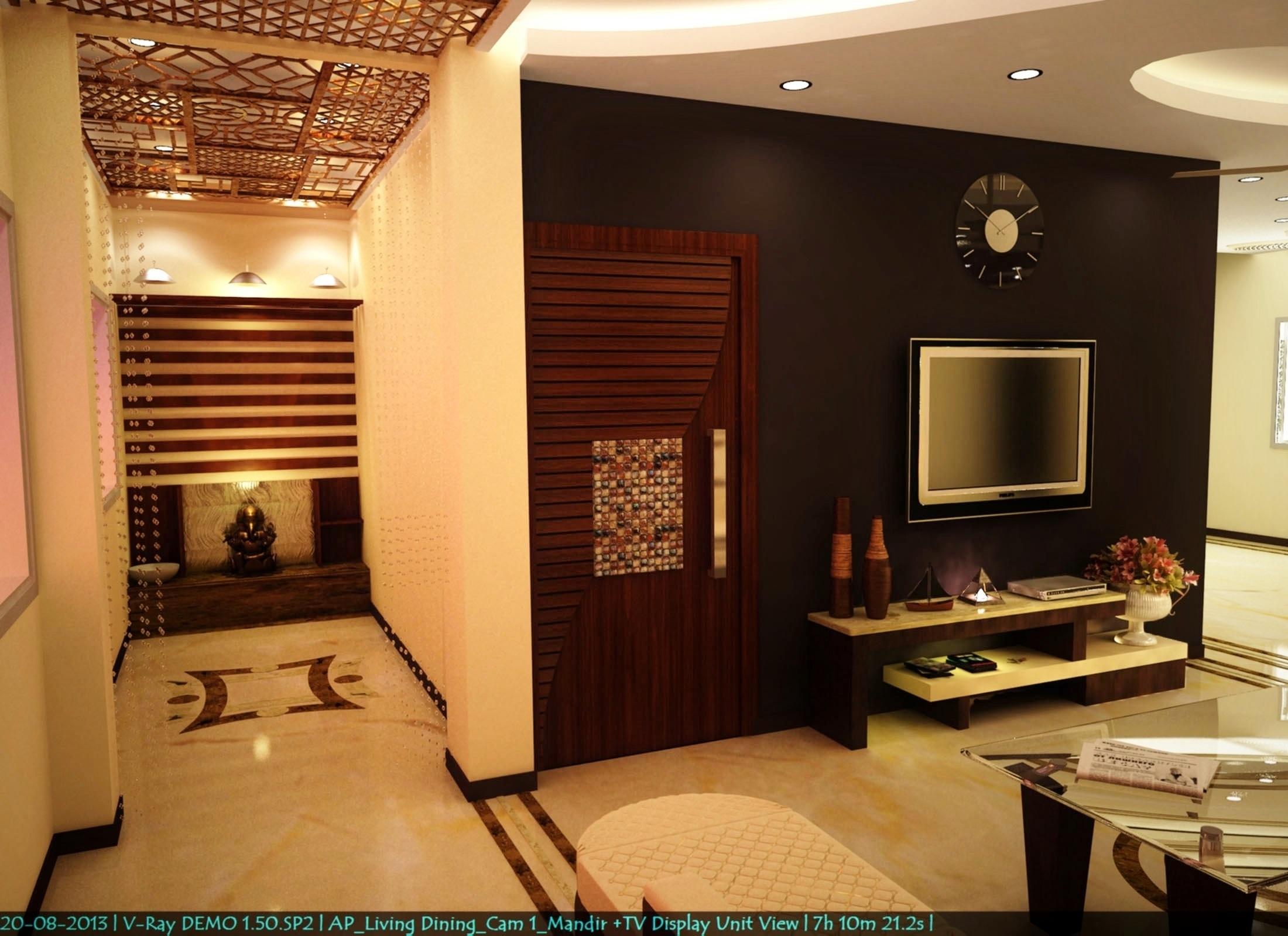 Mandir N TV Unit View GharExpert