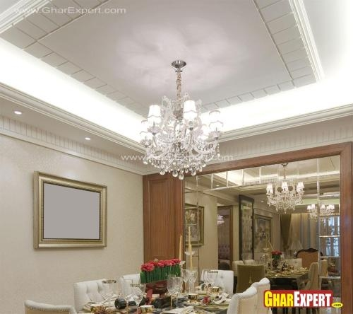 Dining Room Ceiling Dining Room Ceiling Designs Tray Ceiling | Pop Design For Stairs Roof | Attractive | Stylish | Pop Boundary | Popular | Creative