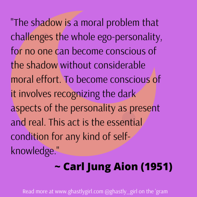 a quote from the Carl Jung book Aion regarding the shadow self