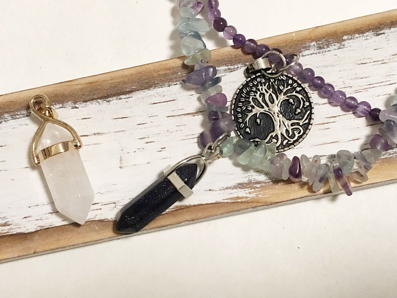 two crystals set for necklaces