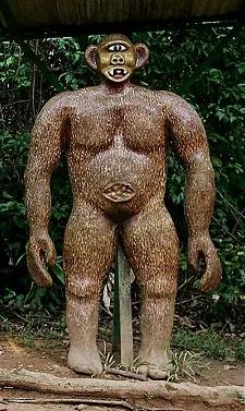 Mapinguari statue