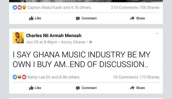 Shatta Wale Claims He Own Ghana Music Industry