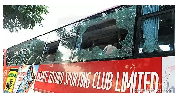 Kumasi Asante Kotoko Team Bus Completely Destroyed in a Gory Accident