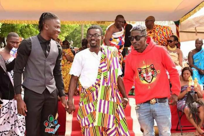 Shata Wale, Nana Appiah Mensha and Stonebwoy