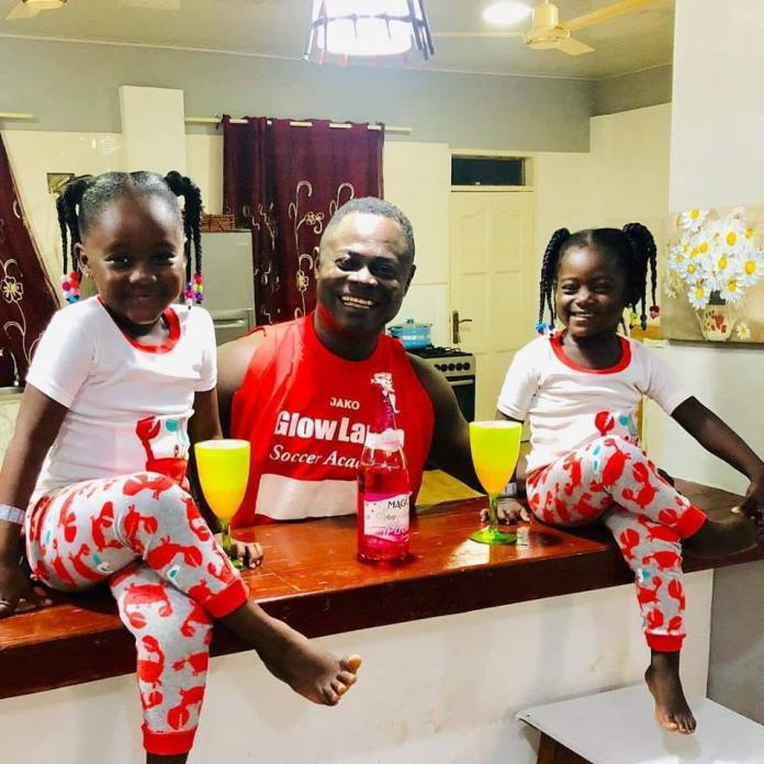 h 1 - Former Black Star Player Odartey Lamptey Shares Beautiful Photo Of His Daughters