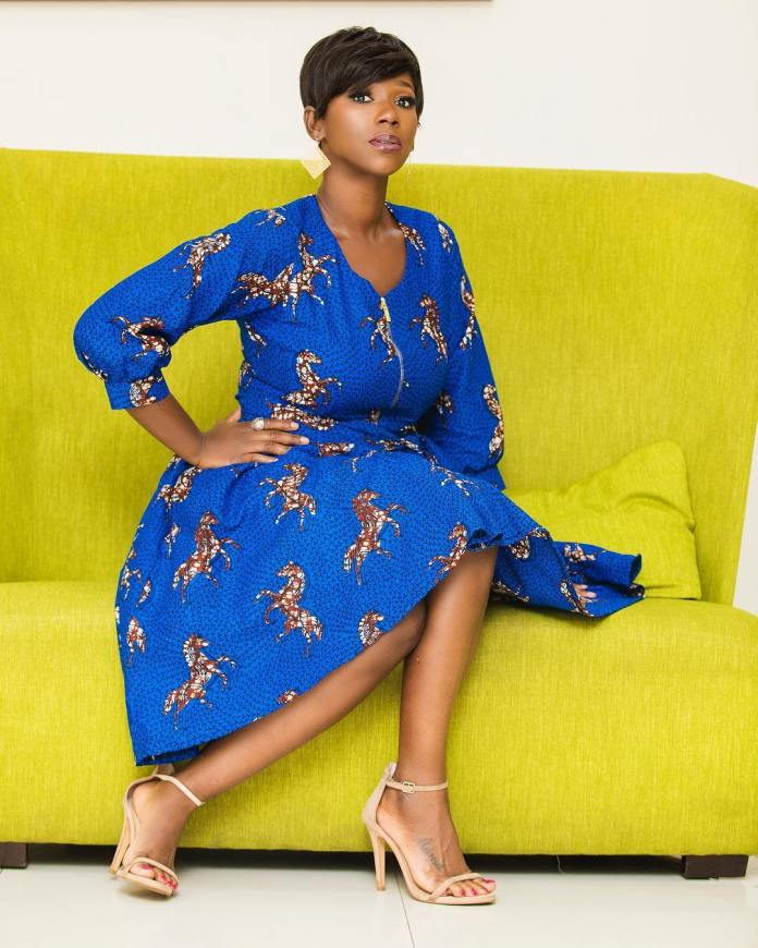 swagofafricanews 52987472 1858172790954486 8807334518897164988 n - Ama K Abebrese Looking Stunning In This Blue African Print (MORE Photos