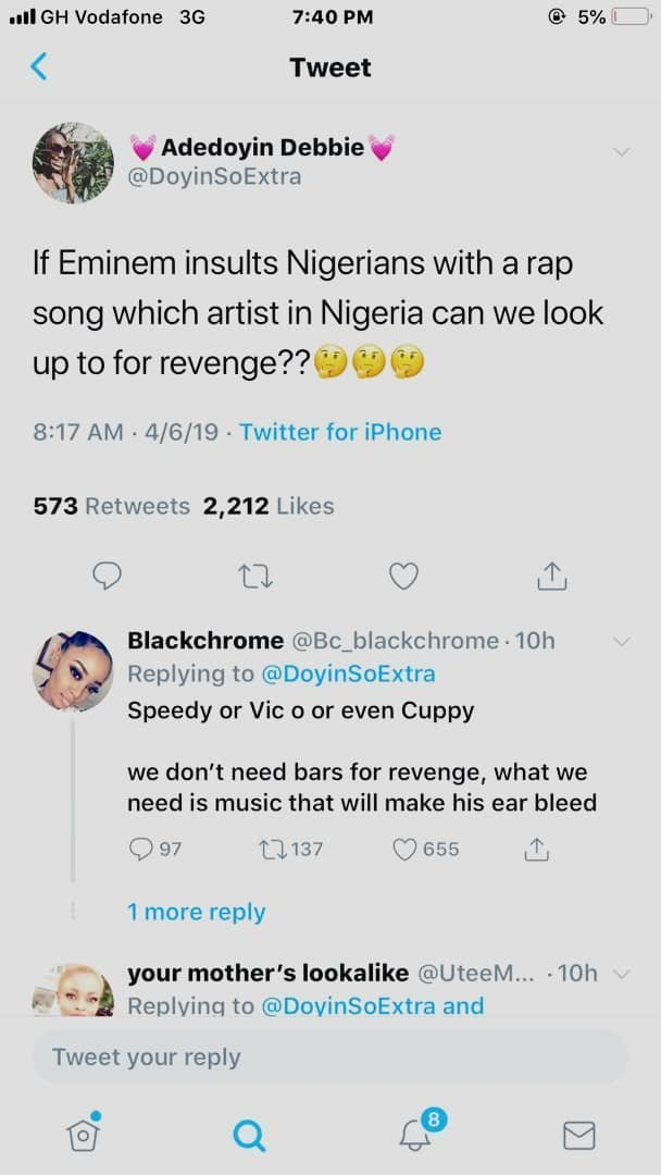 EMIN - 'We Would Hire Sarkodie To Destroy Eminem Like He Did To Shatta Wale' – Nigerian Social Media Users Hail Obidi