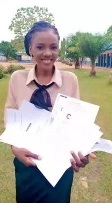 Franka Anyama Undie 2 - Beautiful and brilliant lady flaunts 10 admission letters she got from foreign universities (PHOTOS)