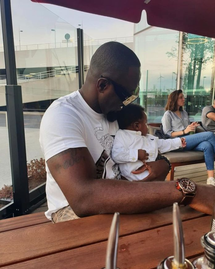 Jim Iyke Steps Out With His Newborn Son For Shopping 1 - Jim Iyke Steps Out With His Newborn Son For Shopping- Photos