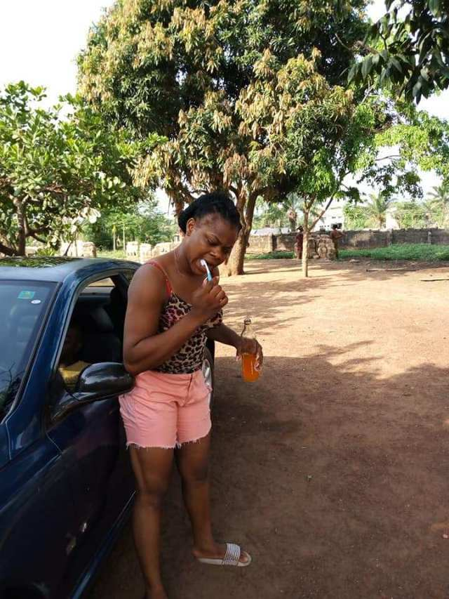 fanta2 - Lady Brushes Teeth With Fanta, Says Those Who Use Water Are Broke