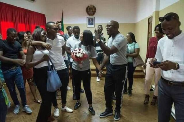 simple marriage2 - Stingyness or Simplicity?: Man Marries His Fiancé In Simple Wedding Style As They Rock Their 'Gym' Clothes