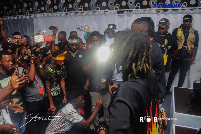 stone - Photos: Stonebwoy Entertains Patrons At The Grand Launch Of Holy Trinity Spa Club And Lounge