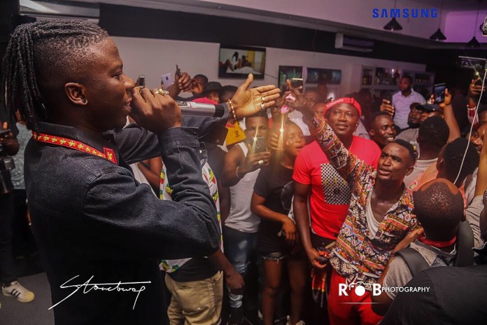 stonegod - Photos: Stonebwoy Entertains Patrons At The Grand Launch Of Holy Trinity Spa Club And Lounge