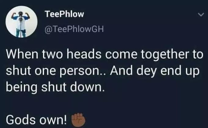 teephlow - Teephlow teases Sarkodie and Strongman after SarkCess Music ended their contract with Strongman (SCREENSHOT)