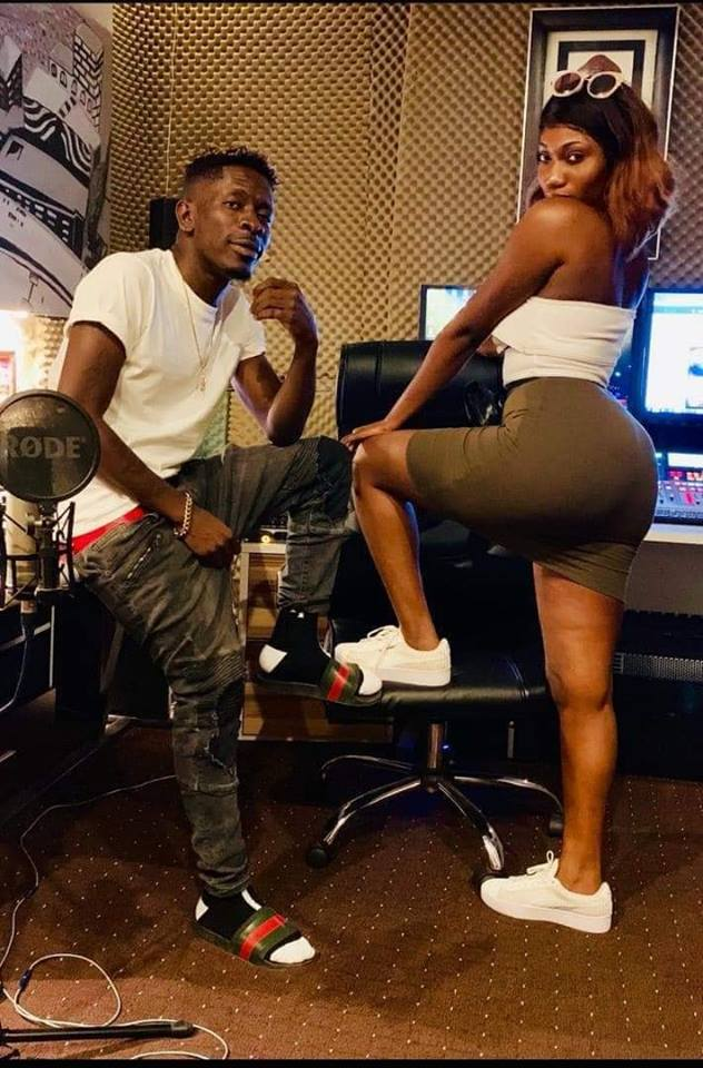 wendy shay 3 - Photos: Shatta Wale & Wendy Shay Spotted 'Playing' Around In A Studio