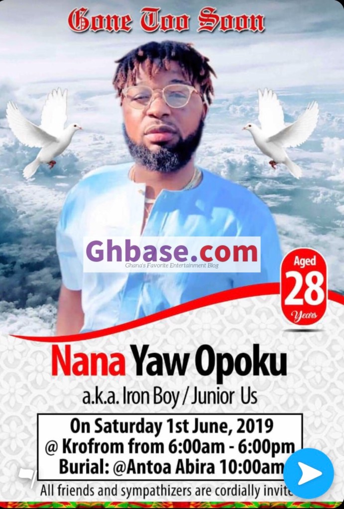 0915B356 8AF6 4CCA AB22 7F19B91BB9D3 - The late Junior To Be Buried In His Hometown, Antoa Abira, On 1st June, 2019. (Full Details)