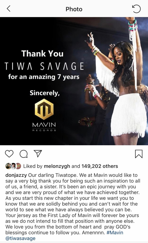 70AECF14 2322 4402 84BE 23D456DDF461 - Tiwa Savage Pens Down An Emotional Piece To Don Jazzy Following Her New Contract With Universal Music Group