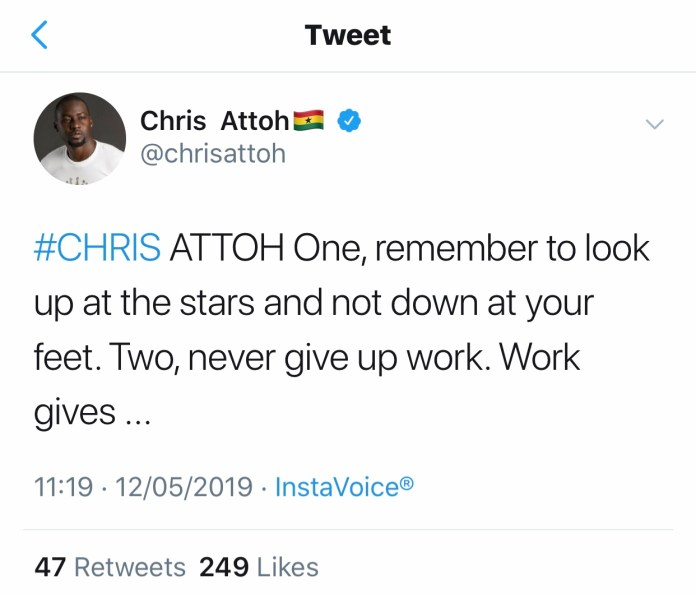 B8D8B6AD 6FA8 4E9F AF9E 4215C519A674 - Chris Attoh Reacts To His Wife's Death On Social Media With A Piece Of Advice (Screenshot)