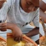 Watch This Video Of Yaw Dabo 'Hammering' Fufu & Akrantie Soup