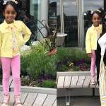 Asamoah Gyan's wife and daughter looks adorable together as they step out in style (Photos)