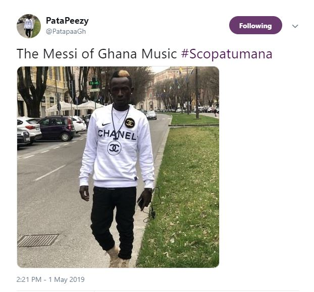 patapaa - I'm the MESSI of Ghana Music – Patapaa brags after his Skopatumana rap verse went viral (Screenshot)