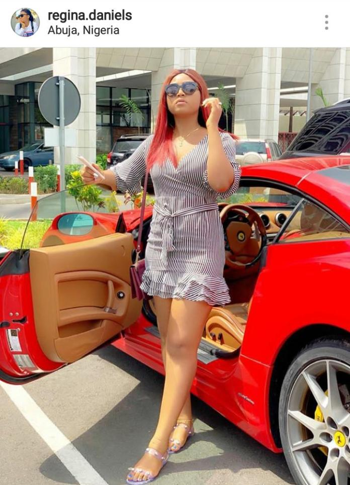 regina 1 - Regina Daniels Is Gifted Another Brand New Car By Mysterious Person (Screenshots)