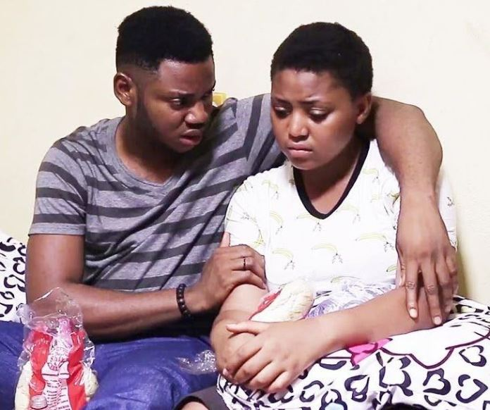 regina and lawrence - Regina Daniels warns Nigerians after her brother was assaulted by the Police (Screenshot)