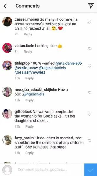 regina daniels 6 - Regina Daniels' mother blasted on social media over her daughter's marriage to Ned Nwoko (Screenshots)