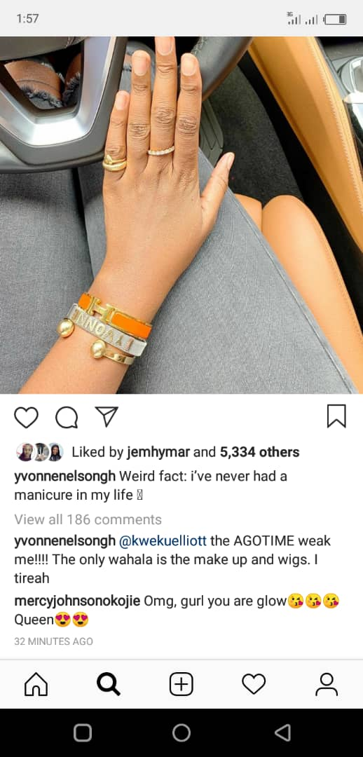 screen - I've Never Had Manicure In My Life – Yvonne Nelson Reveals( Screenshot)