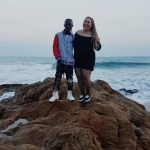 Patapaa Spotted At The Beach Chilling With His New White Girlfriend