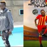 Pataapa's German Wife Arrives In Ghana To Support Him Ahead Of Ghana Meets Naija (Video)