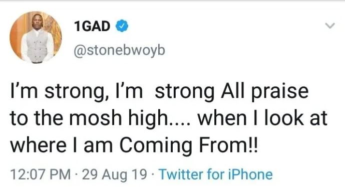 Stonebwoy sends cryptic message amidst alleged fight with Kelvynboy and Blakk Cedi 2