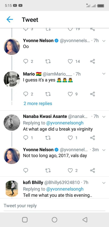 I Broke My Virginity In 2017 On Valentine's Day – Yvonne Nelson Reveals (+Screenshot)
