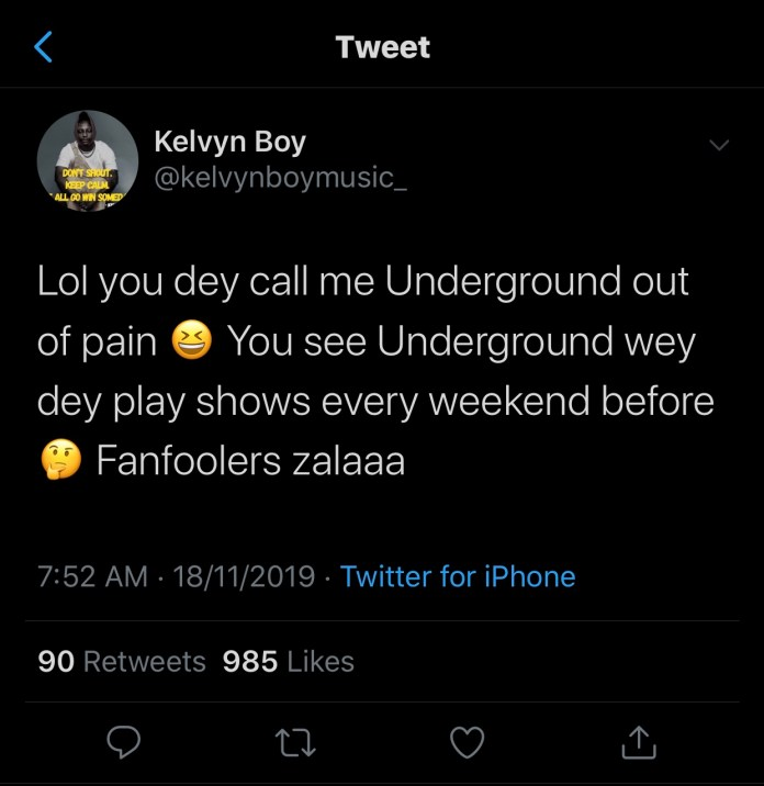 Kelvynboy Replies Stonebwoy For Throwing Shots At Him During His Performance At The Just Ended 4SyteTv Video Awards(Screenshots) 2