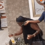 Hot Video: Aggrieved musician curses GHAMRO with eggs in the name of Antoa shrine over unpaid royalties