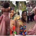 BIG Yawa: Fine Gentleman Ordered To Drop Sprayed Money He Picked From The Ground At Kennedy & Tracy's Wedding- WATCH